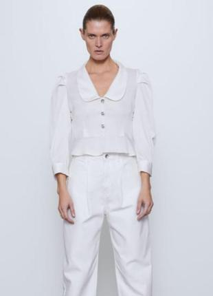 Шикарная блуза с камушками zara