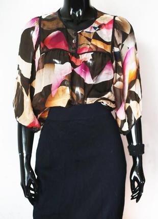 Шелковая блуза strenesse 100% шелк премиум бренд