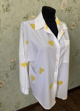 Блуза/рубашка свободного кроя