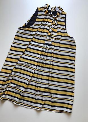 Симпатичное платье разлетайка в полоску mango