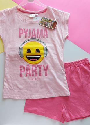 Пижама комплект футболка и шорты emoji