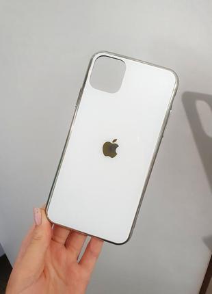 Глянцевый чехол для айфон iphone 11 pro max