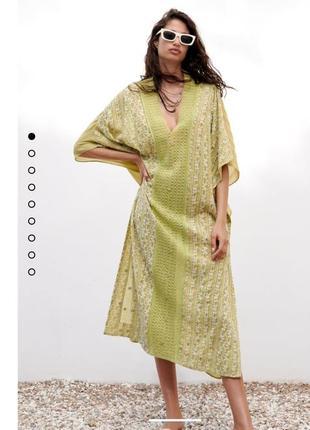 Новое женское платье-туника зара, оригинал, новая коллекция, размер xl