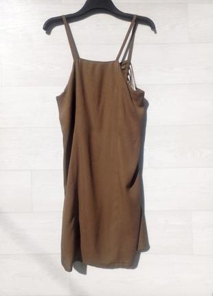 Платье olaria nova коричневое открытая спина вискоза