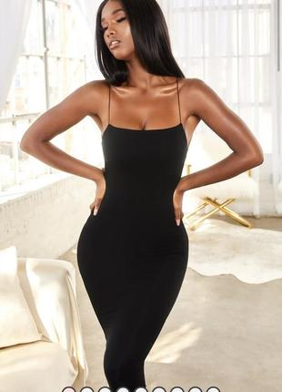 Чёрное трикотажное платье oh polly / как zara, h&m
