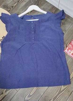 Дышащая синяя блуза, футболка с пуговицами