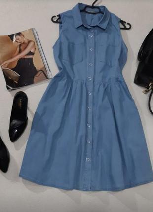Стильное джинсовое платье на жару