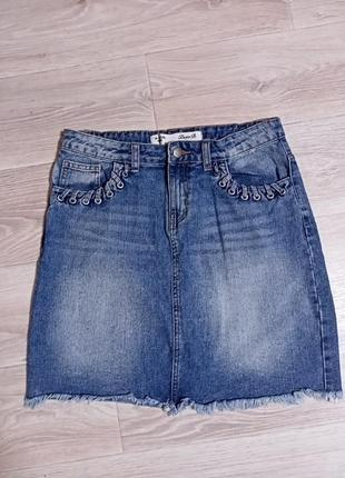 Юбка джинсовая 🔥 акция, на вторую вещь скидка 50%🔥(вторая не дороже первой)
