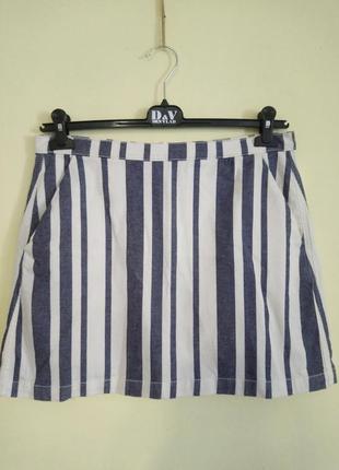 Короткая юбка в полоску topshop