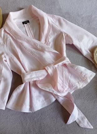 Льняная блуза жакет