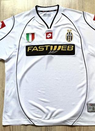 Мужская винтажная футбольная джерси lotto juventus 2002