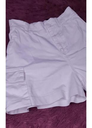 Белые шорты коттон натуральные
