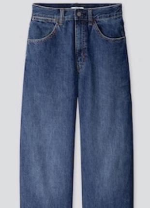 Прямые широкие джинсы трубы uniqlo  wide fit curved jeans9 фото