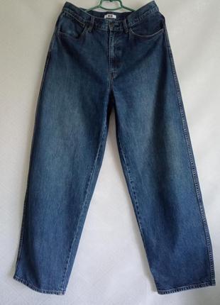 Прямые широкие джинсы трубы uniqlo  wide fit curved jeans2 фото