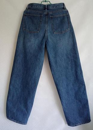 Прямые широкие джинсы трубы uniqlo  wide fit curved jeans3 фото