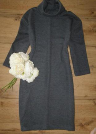 Zara теплое платье гольф трикотаж s-размер