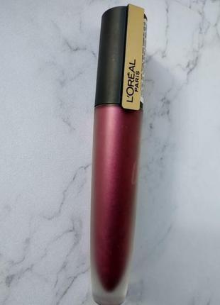 Жидкая металлическая стойкая застывающая помада тинт l'oréal