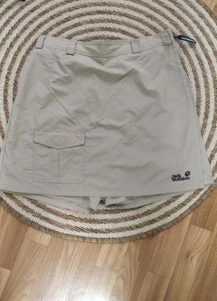 Jack wolfskin,юбка шорты,для путешествий и прогулок,l,xl