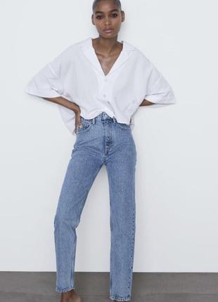 Крутые мом джинсы zara