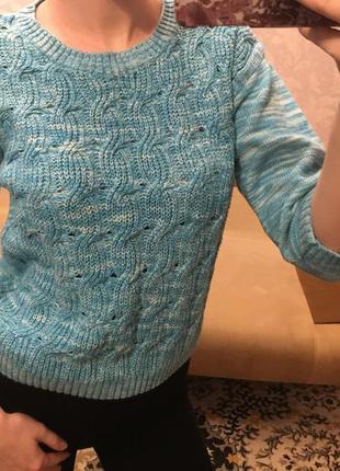 Укорочённый свитер h&m