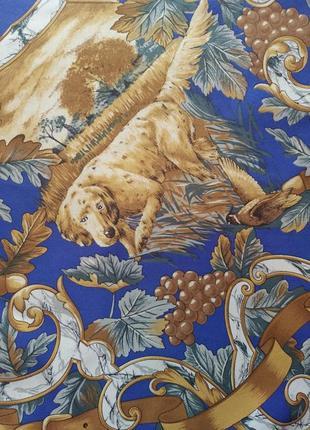 Lombargini paris винтажный шелковый платок винтаж