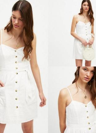 Сарафан платье на пуговицах miss selfridge