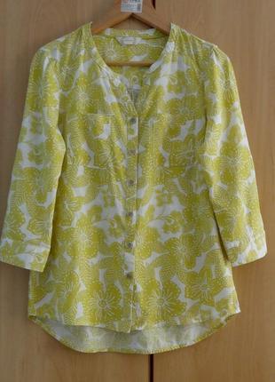 Супер брендовая блуза блузка рубашка  лен