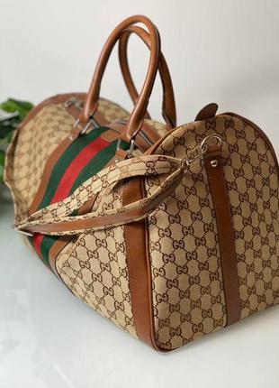 Дорожная  сумка бренд для спорта коричневая3 фото