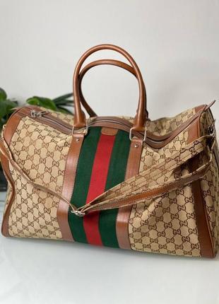 Дорожная  сумка бренд для спорта коричневая