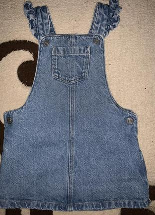 Крутий джинсовий сарафанчик на 1-2 р