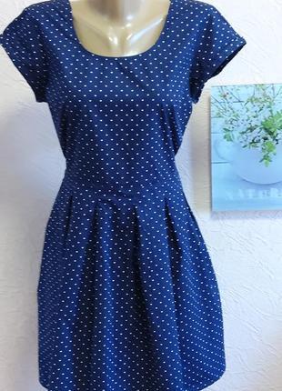 Красивое легкое платье в горошек с&a 100% хлопок акция 1+1 =3