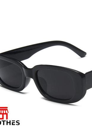 Очки женские zara солнцезащитные цвет черный1 фото