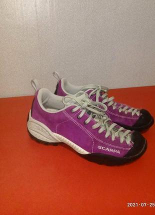 Спортивные треккинговые замшевые кроссовки бренд scarpa