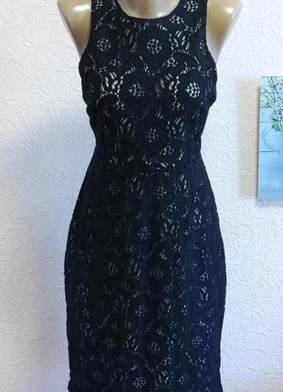 Красивое нарядное платье с кружевом h&m  79 % хлопок акция 1+1 =3