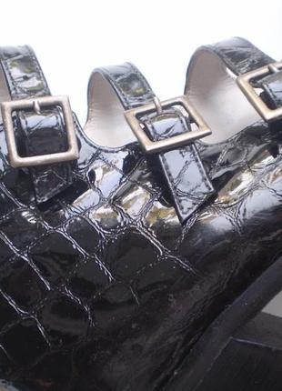 Женские лаковые туфли-ботинки lello bacio  италия 37р. кожаные2 фото