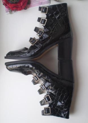 Женские лаковые туфли-ботинки lello bacio  италия 37р. кожаные3 фото