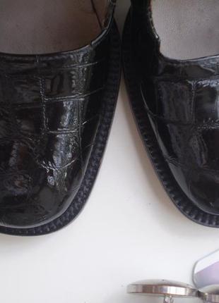 Женские лаковые туфли-ботинки lello bacio  италия 37р. кожаные4 фото