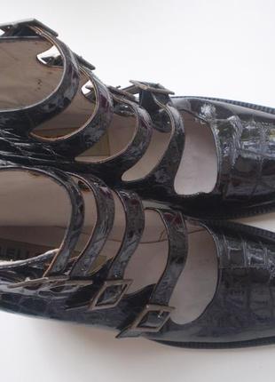 Женские лаковые туфли-ботинки lello bacio  италия 37р. кожаные5 фото