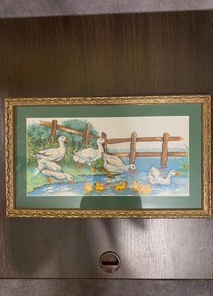 Картина вышитая крестом