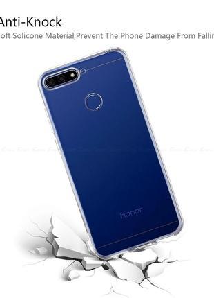 Силиконовый защитный чехол-бампер на huawei y6 prime 2018/huawei honor 7a pro7 фото