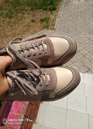Качественные, комфортные кроссовки натуральная кожа hn 40 разм8 фото