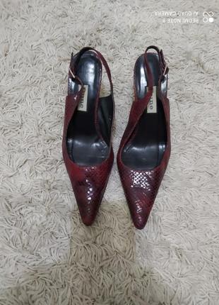 Туфли босоножки кожа питона, 37