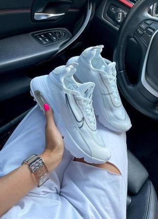 Nike air max 2090 white женские кроссовки наложка