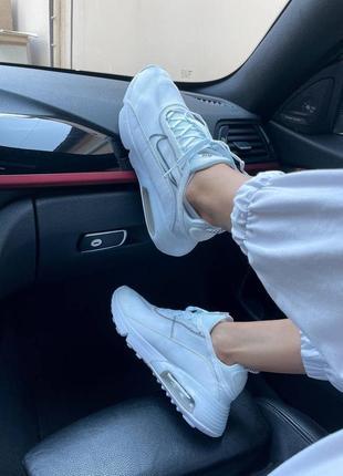Nike air max 2090 white женские кроссовки наложка5 фото