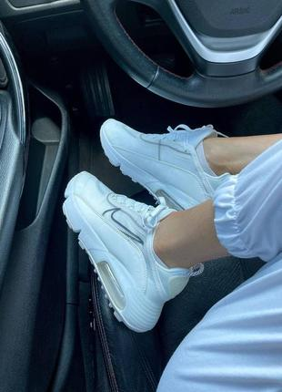Nike air max 2090 white женские кроссовки наложка6 фото