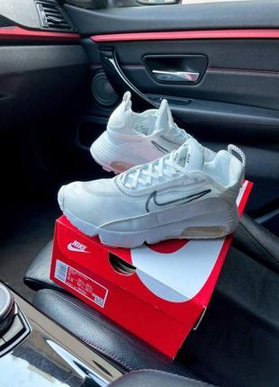 Nike air max 2090 white женские кроссовки наложка7 фото