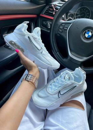 Nike air max 2090 white женские кроссовки наложка8 фото
