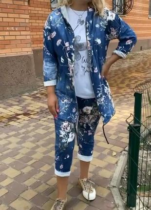 Шикарный прогулочный костюм хлопок/стрейч италия 54-62р