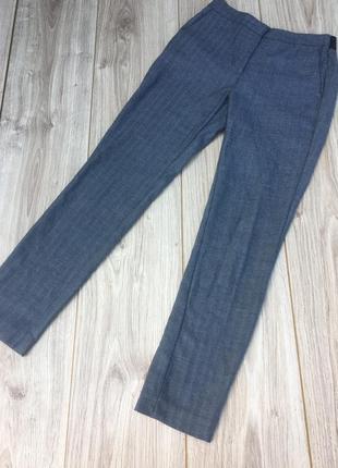 Стильные актуальные брюки zara штаны классикаёлочка зигзаг