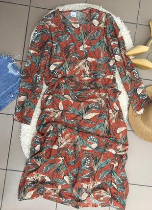 Платье миди сарафан